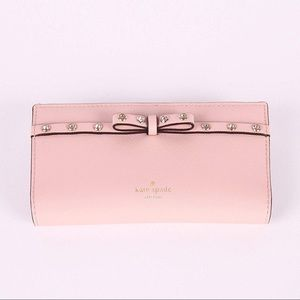 Kate Spade Laurel Way Jeweled Stacy bow wallet
